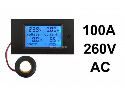 Merac snage energije napona struje 100A