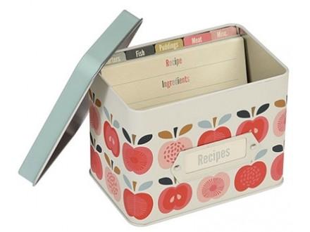 Metalna kutija za recepte - Vintage Apple - dotcomgiftshop