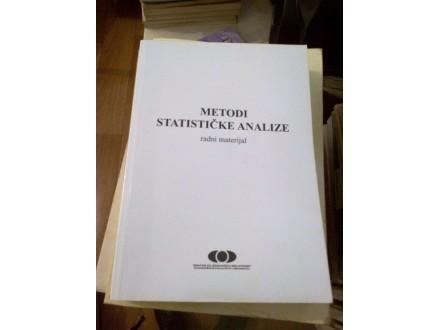 Metodi statističke analize - radni materijal