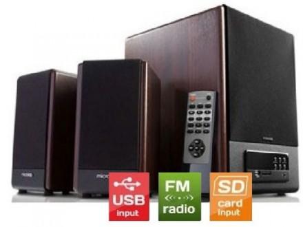 Microlab FC530U * Akt. drveni zvucnici 2.1  64W RMS(28W,2x18W) SD, USB, FM , daljinski, 3.5mm (6965)