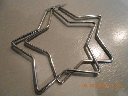 Minđuše zvezdice - velike srebrne alke