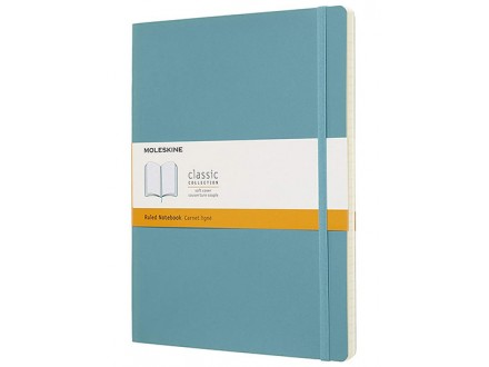 Moleskine Classic Ruled Paper Notebook, Reef Blue - Moleskine