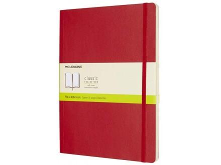 Moleskine - Soft Cover XL Plain Notebook, Scarlet Red - Moleskine