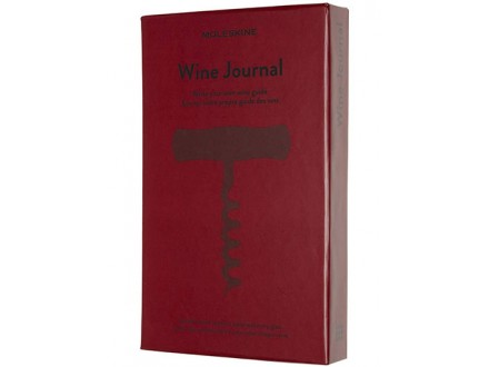 Moleskine - Wine Journal, Theme Notebook - Hardcover Notebook to Collect and Organise Your Wine - Large Size - Moleskine