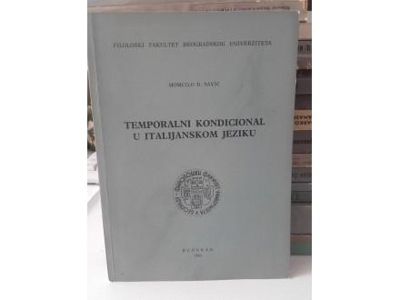 Momčilo Savić - Temporalni kondicional u italijanskom