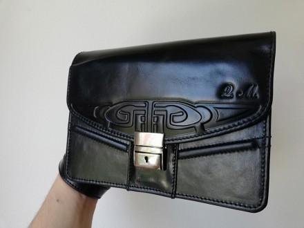 Muška torbica, prirodna koža, ručni rad, 406