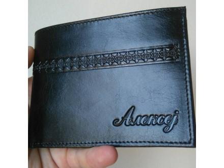 Muški novčanik od govedje kože, art 301, ručni rad