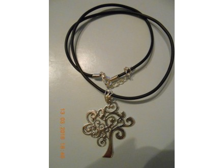 Muško-ženska ogrlica Drvo života-boje srebra