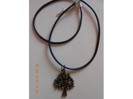 Muško ženska ogrlica Drvo života - mesing
