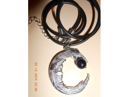 Muško - ženska ogrlica Mesec i Mesečeva reka