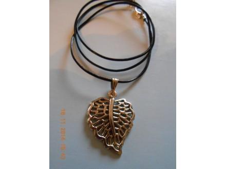 Muško-ženska ogrlica list