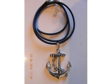 Muško - ženska ogrlica sidro