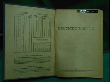 NAUTIČKE  TABLICE   JRM izd 1951.g