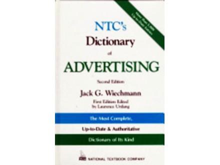 NTC`S DICTIONARY OF ADVERTISING, JACK G. WIECHMANN