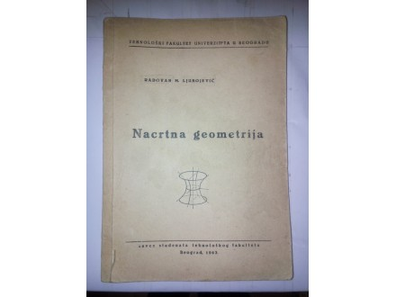 Nacrtna geometrija - Radovan M. Ljubojević