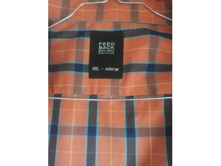 Narandžasta karirana muška košulja Feedback