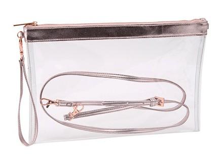 Neseser - Transparent Metallic, Pink