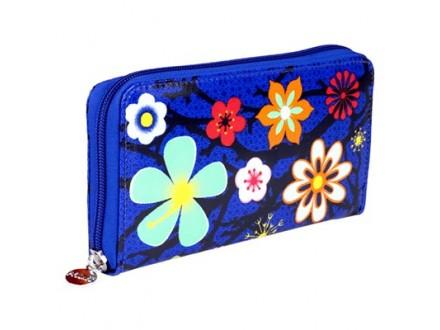 Novčanik - L, Blue Flower - Mode et accessoires