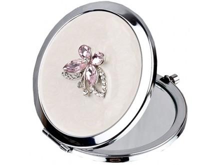 Ogledalce - Sophia, Silverplate, Pink Butterfly - Sophia