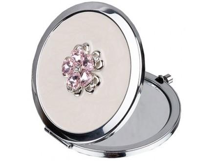 Ogledalce - Sophia, Silverplate, Pink Floral - Sophia