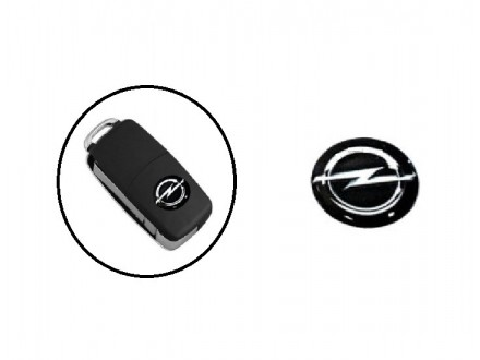 Opel logo - Opel stiker - crni