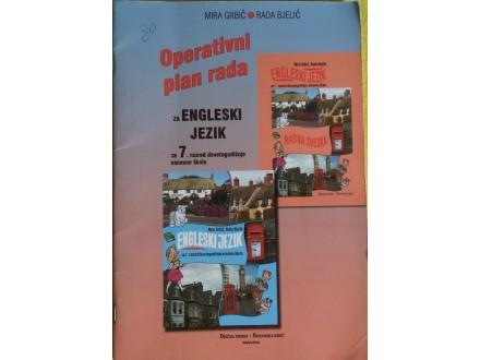 Operativni plan rada za engleski jezik za 7 razred