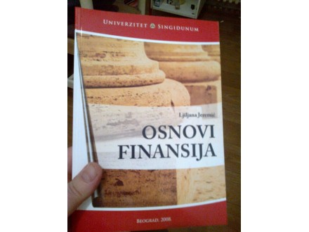 Osnovi finansija - Ljiljana Jeremić