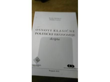 Osnovi klasične političke ekonomije - skripta Medojević