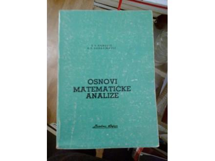 Osnovi matematičke analize - Mamuzić Đerasimović