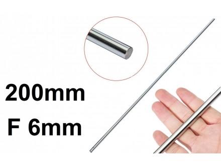 Osovina F6mm x 200mm - Vodjica za CNC i 3D