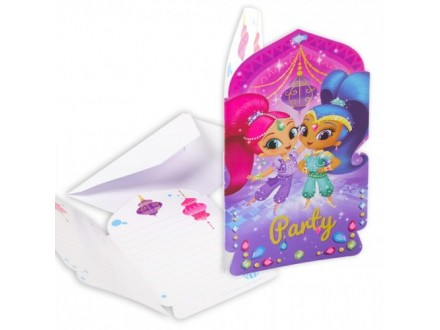 PARTY Shimmer and Shine pozivnica 9902160