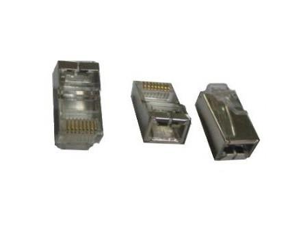 PLUG5SP Gembird shielded modular 30u gold plated LAN konektor (pakovanje 100 kom)