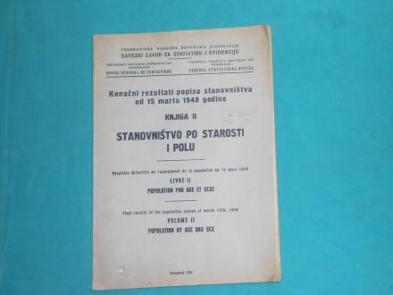 POPIS STANOVNIŠTVA PO STAROSTI I POLU+POKL1948. /K-17/