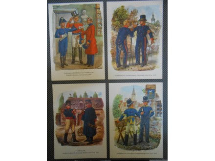 POŠTANSKE UNIFORME- German Post-XIX-century-SET 16.kom