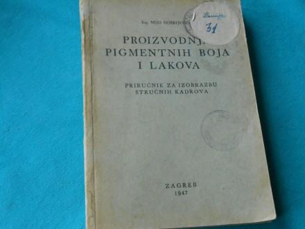 PROIZVODNJA PIGMENTNIH BOJA I LAKOVA-1947./K-321/