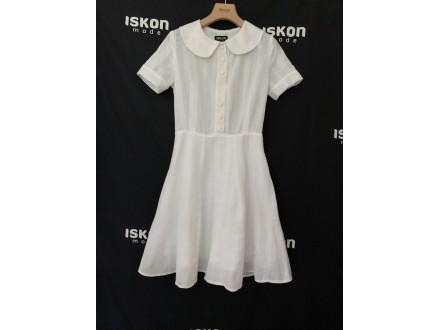 Pamučna letnja haljinica u beloj i bež boji