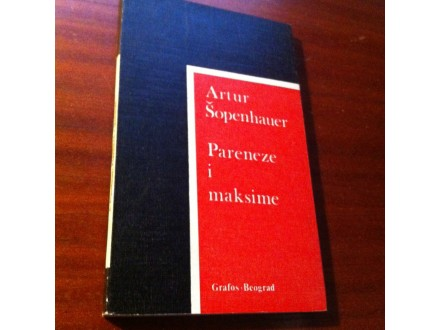 Pareneze i maksime Artur Šopenhauer