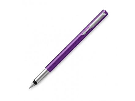 Parker Medium Vector Chrome Trim Nib Fountain Pen - Purple/Blue - Parker