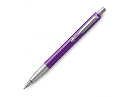 Parker Medium Vector Chrome Trim Point Ballpoint Pen - Purple/Blue - Parker