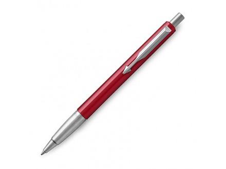Parker Medium Vector Chrome Trim Point Ballpoint Pen - Red/Blue - Parker
