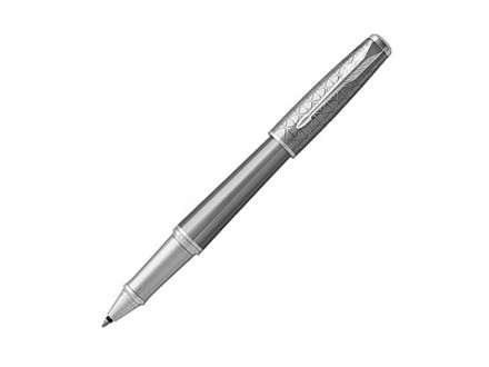 Parker Urban Rollerball Pen, Premium Silvered Powder with Fine Point Black, - Parker