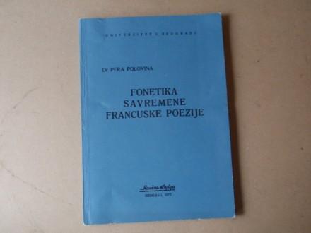 Pera Polovina - FONETIKA SAVREMENE FRANCUSKE POEZIJE