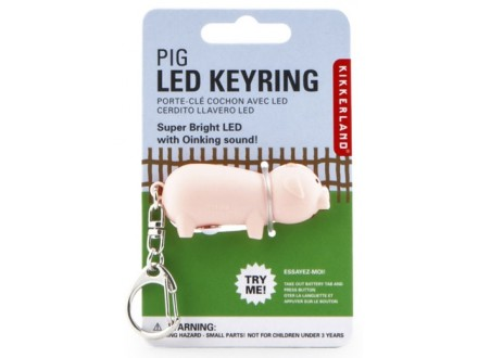 Piggy Led Key Chain - Kikkerland