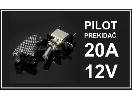 Pilot prekidac - CRNO-BELI - 20A