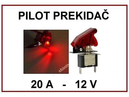 Pilot prekidac - CRVENI - 20A