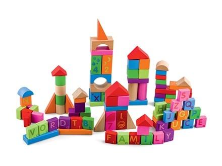 Pino - Edukativne kocke, blokovi - 100 komada