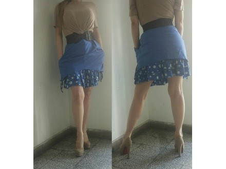 Plava dupla suknja