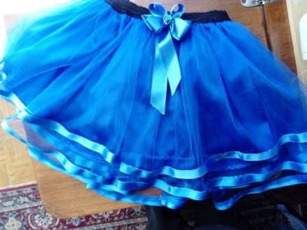 Plava suknja od tila dvostrukog  i satena br 12