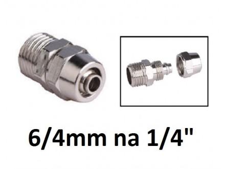 Pneumatska spojnica za vazduh 6/4mm na 1/4 (oko 12.8mm)