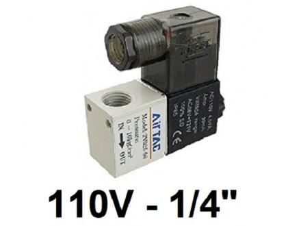 Pneumatski elektromagnetni ventil - 110V - 1/4` - NC
